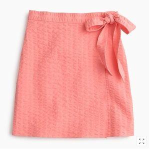 J. Crew Textured Wrap Mini Skirt